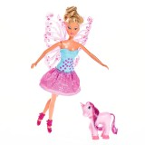 Papusa Simba Steffi Love 29 cm Fairy Friends cu ponei si aripi detasabile