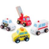 Set 4 vehicule din lemn New Classic Toys