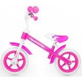 Bicicleta fara pedale Milly Mally Dragon Z pink