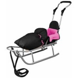 Sanie Baby Dreams Rider Plus cu Sac Speedy roz