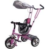 Tricicleta cu copertina Sun Baby Super Trike roz