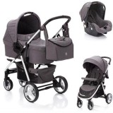 Carucior Fillikid Lion 3 in 1 grey melange