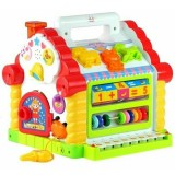 Casuta educativa Hola Toys Happy House cu sortator si pian