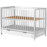 Patut copii din lemn Hubners Dominic 120x60 cm alb cu sertar {WWWWWproduct_manufacturerWWWWW}ZZZZZ]