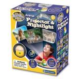 Proiector Brainstorm Toys cu animale si lampa de veghe