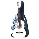 Chitara din lemn Bontempi cu husa si stickere Alb