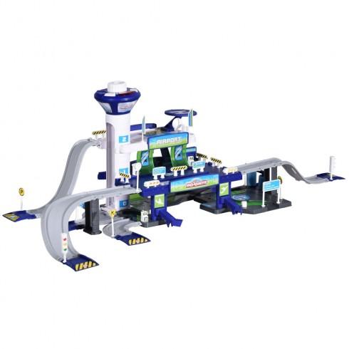 Pista de masini Majorette Creatix Aeroport cu 5 vehicule