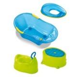 Set Plebani pentru baie albastru