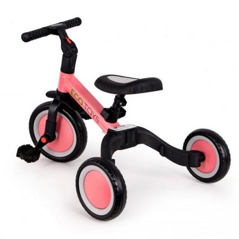 Tricicleta Ecotoys TR001 4 in 1 roz