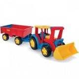 Tractor Wader gigant cu escavator si remorca