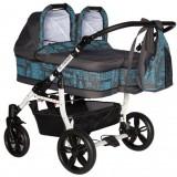 Carucior Pj Baby Pj Stroller 2 in 1 blue