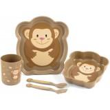 Set pentru luat masa Lulabi 5 piese Maimutica