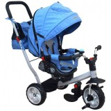 Tricicleta cu copertina Baby Mix Extra Comfort Travel blue