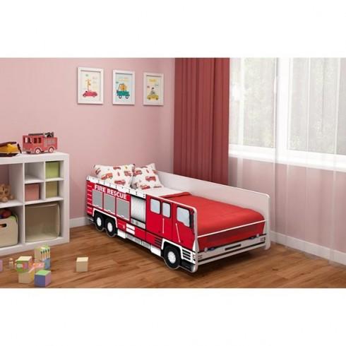 Patut MyKids Fire Truck 160x80 cu Saltea