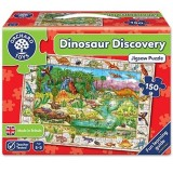 Puzzle Orchard Toys Lumea dinozaurilor in limba engleza 150 piese