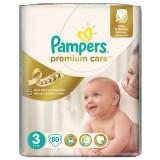 Scutece Pampers premium care 3 jumbo pack 80 buc pentru 4-9 kg