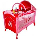 Patut pliabil Arti Deluxe Plus-go cu 2 nivele pink