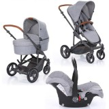 Carucior Circle ABC Design Catania 4 All in One 3 in 1 woven grey