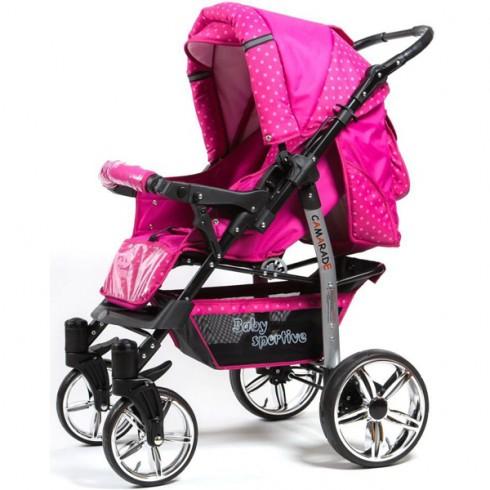 Carucior Kidcity Camarade Pro roz cu buline