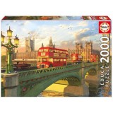 Puzzle Educa Podul Westminster din Londra 2000 piese
