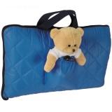 Sac de dormit camping Tuloko cu ursulet de plus albastru