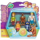 Set 5 figurine Scooby Doo 7 cm: Velma, Scooby Doo, Shaggy, Fred, Skeleton Man