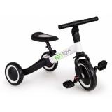 Tricicleta cu pedale Ecotoys TR001 4 in 1 Alb