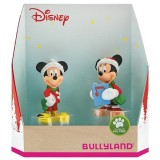 Set 2 figurine Bullyland Minnie si Mickey Craciun