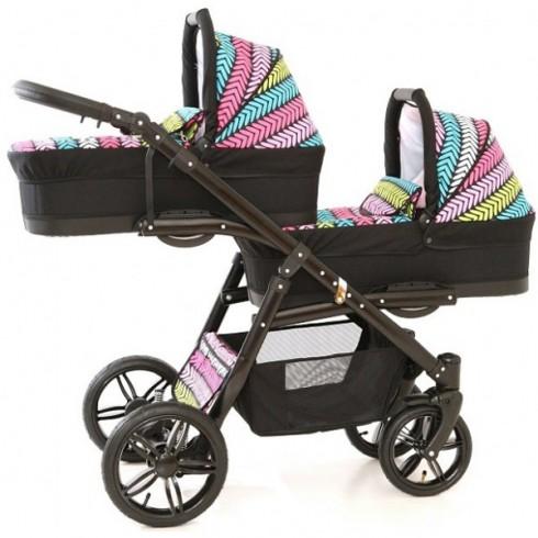 Carucior Pj Baby Pj Stroller Lux 2 in 1 multicolor