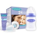 Pachet Lansinoh Tampoane san + crema HPA Lanolin 10ml + biberon 160ml