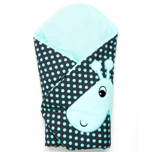 Sac de dormit multifunctional Womar Zaffiro Girafa gri inchis turcoaz