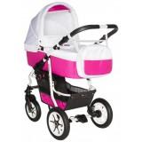 Carucior Pj Baby Pj Stroller Comfort 3 in 1 white pink