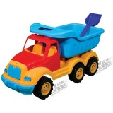 Masinuta Ucar Toys Autobasculanta gigant cu axa dubla 90 cm