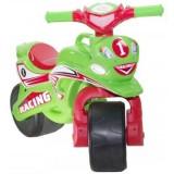 Motocicleta de impins MyKids Racing 01395 verde rosu