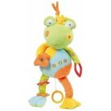 Jucarie muzicala Brevi Soft Toys 092042 Broscuta