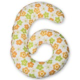 Perna de alaptat BabyNeeds Enjoy multifunctionala Floricele portocalii