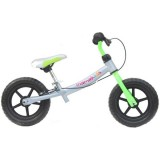 Bicicleta fara pedale Kidcity Mamakids Explorer 12 gri cu verde