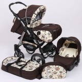 Carucior Baby Merc Junior Plus 3 in 1 Brown owls