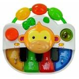 Jucarie pian Lean Toys muzical si luminos maimutica
