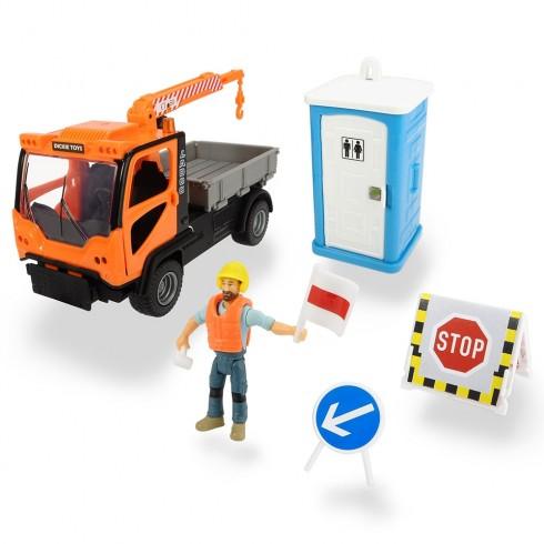 Camion Dickie Toys Playlife M.T. Ladog Service Set cu figurina si accesorii {WWWWWproduct_manufacturerWWWWW}ZZZZZ]