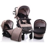 Carucior Cangaroo Noble 3 in 1 beige