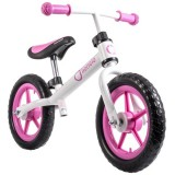 Bicicleta fara pedale Lionelo Fin Plus white pink