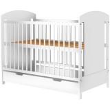 Patut copii din lemn Hubners Kamilla 120x60 cm alb cu sertar {WWWWWproduct_manufacturerWWWWW}ZZZZZ]