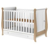 Patut copii din lemn Hubners Mira 120x60 cm alb-natur cu sertar {WWWWWproduct_manufacturerWWWWW}ZZZZZ]