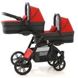Carucior gemeni PJ Baby Tandem 2 in 1 PJ Stroller Lux red