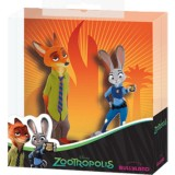 Set 2 figurine Bullyland Nick Wilde Juddy Hoops
