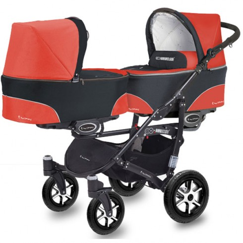 Carucior MyKids Twinni mexican red