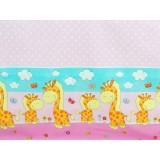 Perna de alaptat MyKids Happy Giraffe multifunctionala C roz