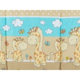 Perna de alaptat MyKids Happy Giraffe multifunctionala maro