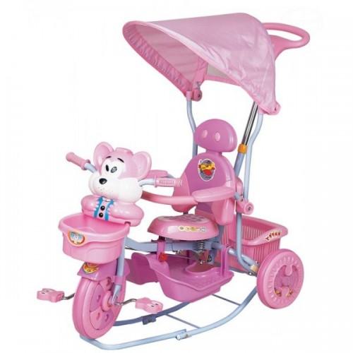 Tricicleta cu copertina Eurobaby 2830ac roz